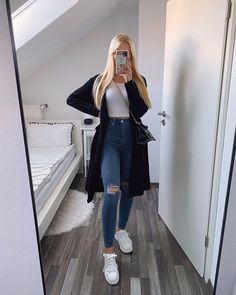 Basic Outfits, Teen Fashion Outfits, Cute Casual Outfits, Outfits For Teens, Look Fashion, Stylish Outfits, Casual College Outfits, Casual Ootd, Look Jean