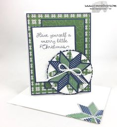 I made this pretty Christmas card using the new Christmas Quilt stamp set and bundled Quilt Builder Framelits. ⠀ ⠀ For free instructions - including a video tutorial and link to a specially priced bundle! - please visit my blog at:⠀ https://stampsnling