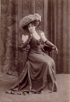 Victorian Lady in chair- Circa 1880