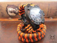Oranje met zwart 20cm | VOS Paracord