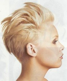 Edgy Short Shaved Sides Longer Spikey Top Haircut