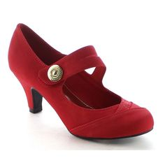 Please noted that these shoes run one size smaller than usual.This pump is a key style that earns its spot in your wardrobe.Featuring closed round toe front,dual straps with button accent,stitching de