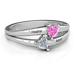 Twin Hearts Promise Ring #jewlr