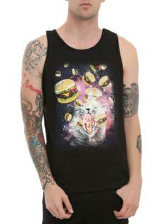Space Cat Burgers Tank Top