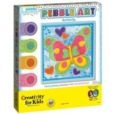 Pebble Art Kit - Ages 6 to 96 http://www.artandcraft.ie/hobbies-kits-sets/creativity-for-kids-kits/pebble-art-age-6-to-96.html