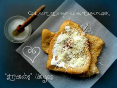 langos- can translate Camembert Cheese, French Toast, Bread, Breakfast, Recipes, Food, Cakes, Morning Coffee, Cake Makers