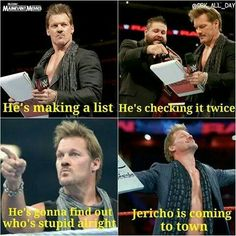 - wwe & wwf News Wrestling Quotes, Wrestling Wwe, Chris Jericho, Wwe Quotes, Wwe Funny, Funny Memes, Fc Barcalona, Wwe Dean Ambrose, Lucha Libre