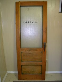 Girls And Boys Vintage Solid Oak School Bathroom Doors