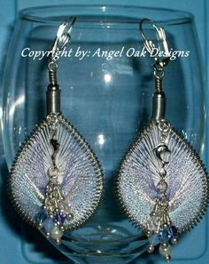Peruvian Thread Earrings - A Dolphin's Day | AngelOakDesigns - Jewelry on ArtFire