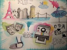 A few watercolor painting creations for a school project, by Zoescarlett