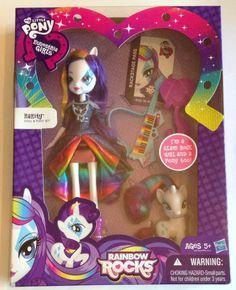My Little Pony Equestria Girls Rainbow Power Rocks Rarity fashion Doll pony glam #Hasbro