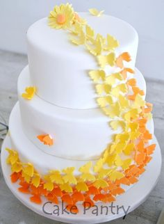 Butterfly cake - on a smaller scale - with Starburst butterflies.