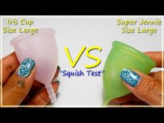 "Iris Cup vs Super Jennie LARGE ""Squish Test"""