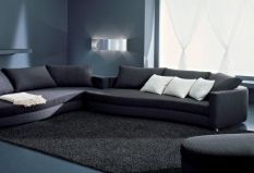 canapea moderna cu forme organice