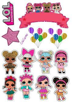 Lol Doll Cake, 7th Birthday Party Ideas, Happy Brithday, Disney Princesses And Princes, Happy Birthday Cake Topper, Doll Party, Disney Beauty And The Beast, Mickey Mouse Birthday, Seashell Crafts