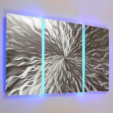 Modern Abstract Metal Wall Art Color Changing LED Lighting Painting Home Decor