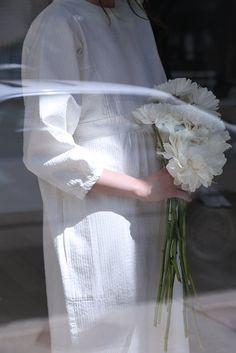 rennes / Cosmic Wonder White Sashiko Dress