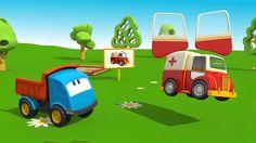 Cartoni Animati per bambini: Leo il Camion Curioso gioca con le macchinine