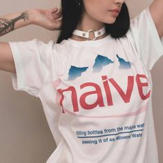 """285 Likes, 1 Comments - APPAREL K (@apparel_k) on Instagram: """"💧🗻💦Naive Tee 💧🗻💦 Get it now ⭐ 💧www.apparelk.com💧"""""""