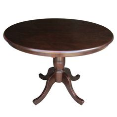30 Inch Tall, 36 Inch Round Top Rich Mocha Pedestal Dining Table International Concepts Di