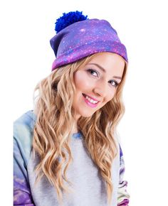 Purple Nebula Beanie - Rage On! - The World's Largest All-Over Print Online Retailer