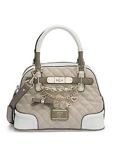 Amour Small Dome Satchel   GUESS.com
