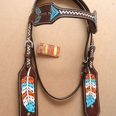 Western Horse Headstall Tack Bridle American Leather Native Indian for sale online Western Horse Tack, Horse Bridle, Headstalls For Horses, Treeless Saddle, Barrel Racing Tack, Indian Horses, Horse Galloping, Tack Sets, Painting Leather