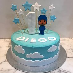 Tarta buttercream estrellitas. Baby Shower, Birthday Cake, Desserts, Food, One Year Birthday, Christening, Pies, Sweets, Babyshower