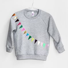 colourful! Sweater Garland grey / pom berlin kidswear