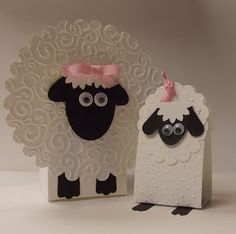 Stampin' Up! Punch Art by Sandy D at stamping sanity: Little Lambs