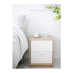 IKEA - ASKVOLL, 2-drawer chest, , Smooth running drawers with pull-out stop.