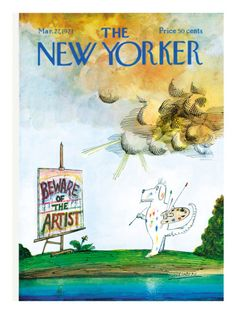 The New Yorker Cover - March 27, 1971 Poster Print by Saul Steinberg at the Condé Nast Collection