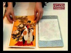▶ Artebella Kolay Transferlerde Simli Boya Üzerinde Açık Zemin Uygulamaları - Gülçin Göksu - YouTube