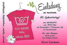 Details zu Einladungskarten 30 40 50 60 Geburtstag Einladungen…