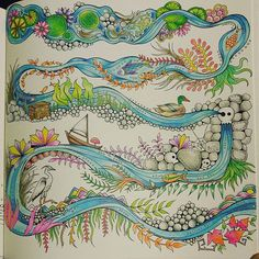 Johanna Basfords Enchanted Forest Title Page Colored By Kelsey