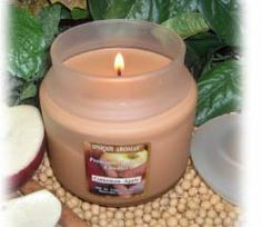 16 oz Frosted Jar Pear Glaze Scent Candle by Unique Aromas. $29.93. Pear Glaze scent. Price per jar candle. Candle color may vary from photograph. 16 oz Frosted Jar with matching heavy flat lid. Each 16 oz Soy Candle can burn up to 150 hours.Some assembly may be required. Please see product details.Some assembly may be required. Please see product details.