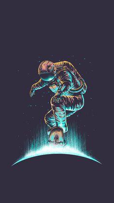 Cosmonaut wallpaper by - - Free on ZEDGE™ Galaxy Wallpaper, Wallpaper Backgrounds, Iphone Wallpapers, Illusion Kunst, Astronaut Wallpaper, Tableau Pop Art, Space Illustration, Astronaut Illustration, Cool Art