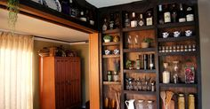 He cut out the kitchen wall & his wife loves his stunning storage idea