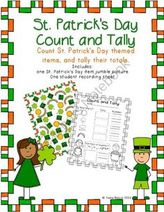 St. Patricks Day Count & Tally product from TrishaB on TeachersNotebook.com