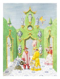 """Garden Plans"": Harrison Howard. (Tiger Flower Studio offers large scale works.)"