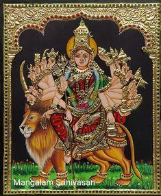 Lord Vishnu, Lord Shiva, Tanjore Painting, Durga Maa, Goddess Lakshmi, Hindu Deities, Gods And Goddesses, Mythology, Gallery