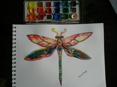 Redefined dragonfly. #colored #trippy #insectart #blackandwhite