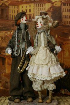 Art Dolls////клоуны....автор Чугунова Татьяна