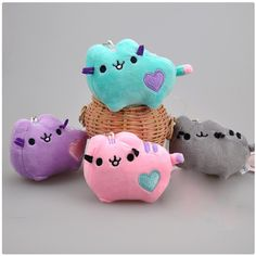 CXZYKING 2017 Kawaii New Small Pendant Cute Pusheen Cat Stuffed Plush Animals Toys for Girls and Boys #Affiliate