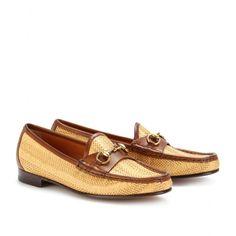 Gucci Woven Loafers, $635. They are Cuban Grandpa Chic.