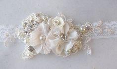 Romantic Vintage Style Bridal Cuff Custom Rustic Wedding