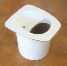 urine separator for composting toilet bauwagen und hausboote. Black Bedroom Furniture Sets. Home Design Ideas