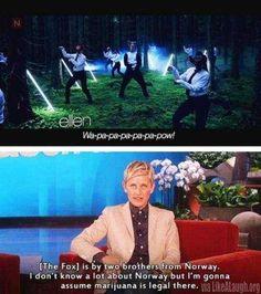Ellen on the Fox
