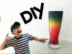 DIY Rainbow Kids drink - Como Hacer Bebida Arcoiris para niños