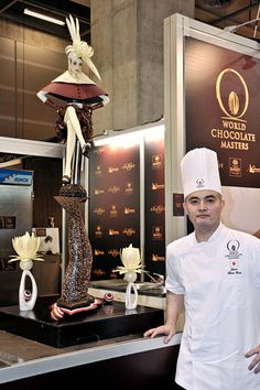 Sculpture This work of art was created by Shigeo Hirai of Japan for the World Chocolate Masters competition in 2009